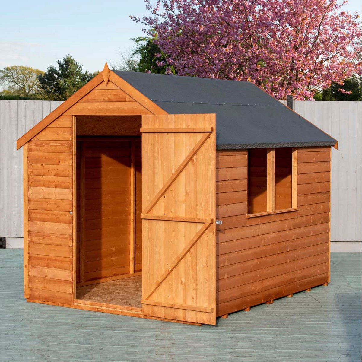 Shire Overlap 8' x 6' Value shed with Window