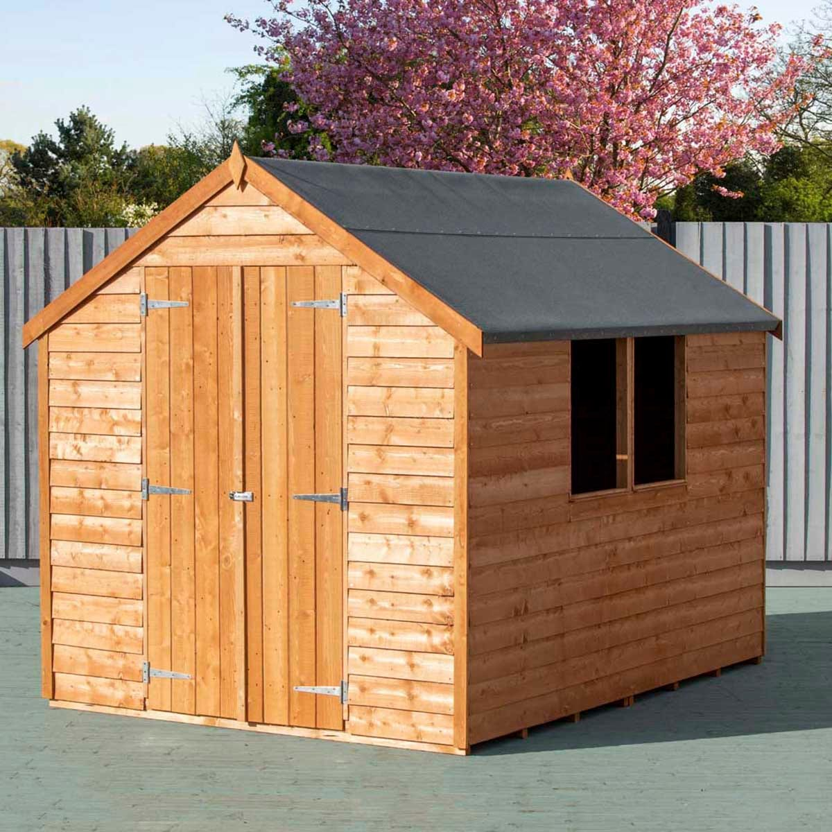Shire Overlap 8' x 6' Value Shed With Window and Double Door