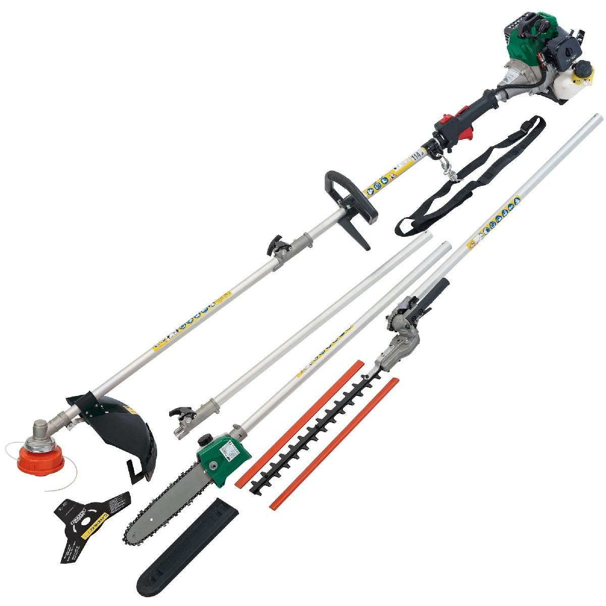 Draper 4-in-1 Petrol Garden Tool - Grass Trimmer/Brush Cutter, Pruner/Saw, Hedge Trimmer and Extension Pole (32.5cc)