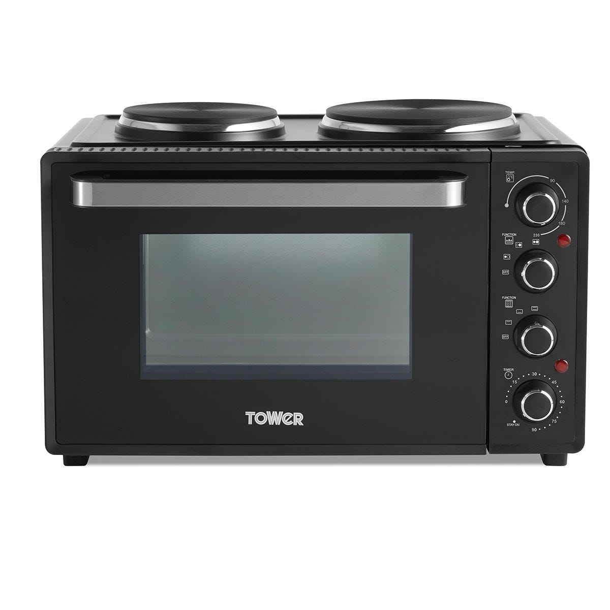 Tower DYT14044 32L Mini Oven with Hobs - Black