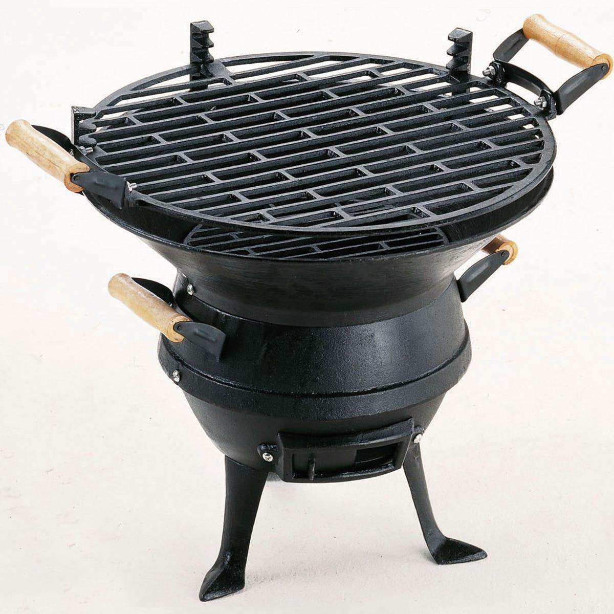 Landmann Grill Chef Cast Iron Barrel Charcoal BBQ