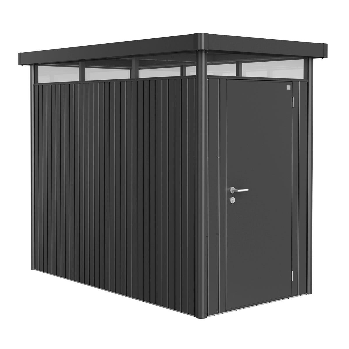 Biohort Highline Metal Shed HS Standard Door 5' x 9' - Dark Grey