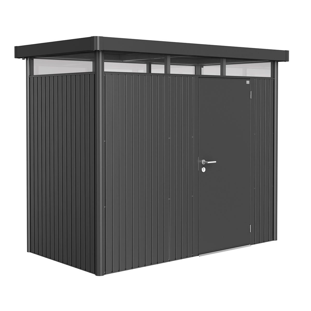 Biohort Highline Metal Shed H1 Standard door 9 x 5 - Dark Grey