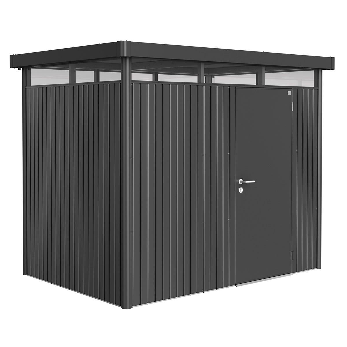Biohort Highline Metal Shed H2 Standard door 9 x 6 - Dark Grey