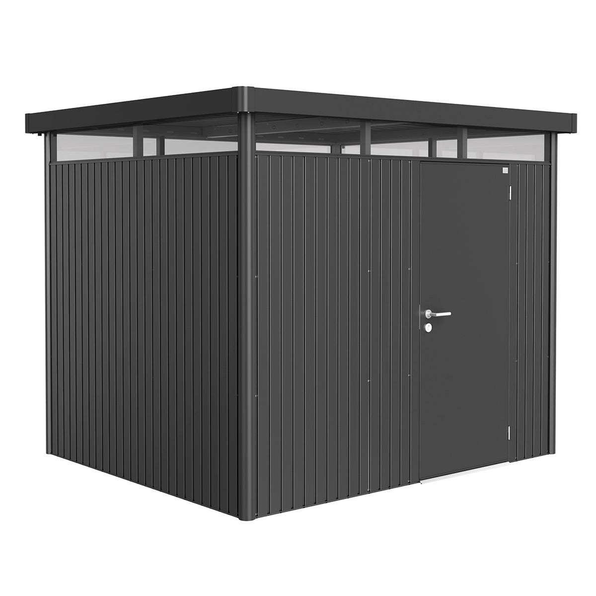 Biohort Highline Metal Shed H3 Standard door 9 x 8 - Dark Grey