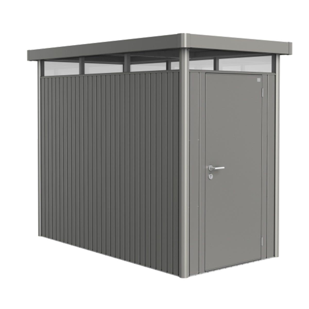 Biohort Highline Metal Shed HS Standard door 5 x 9 - Quartz Grey