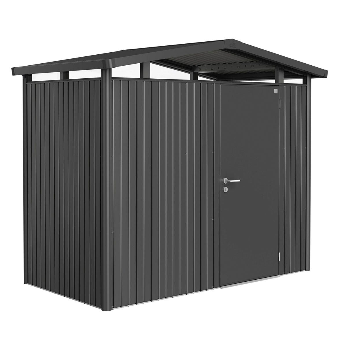 Biohort Panorama Metal Shed P1 Standard Door 9' x 5' - Dark Grey