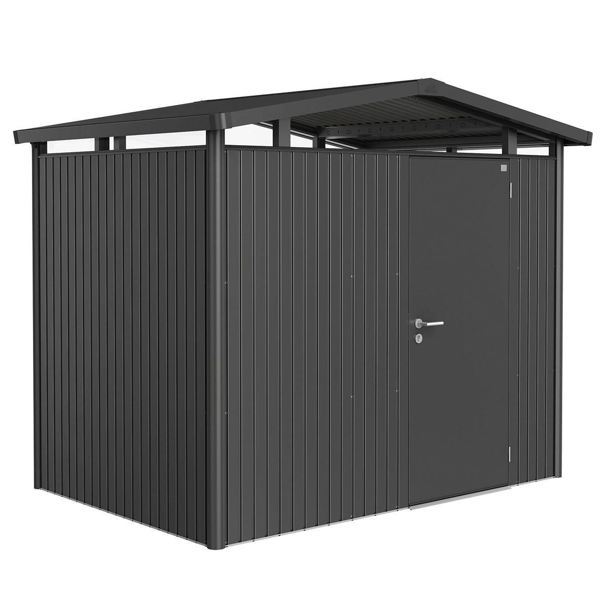 Biohort Panorama Metal Shed P2 Standard Door 9' x 6' 5'' - Dark Grey