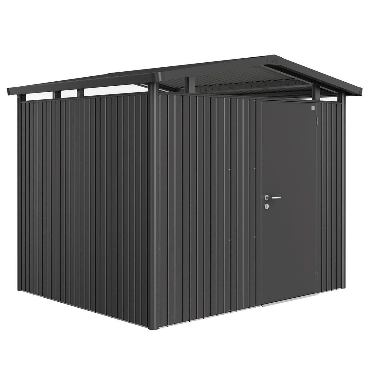 Biohort Panorama Metal Shed P3 Standard Door 9' x 7' 8'' - Dark Grey