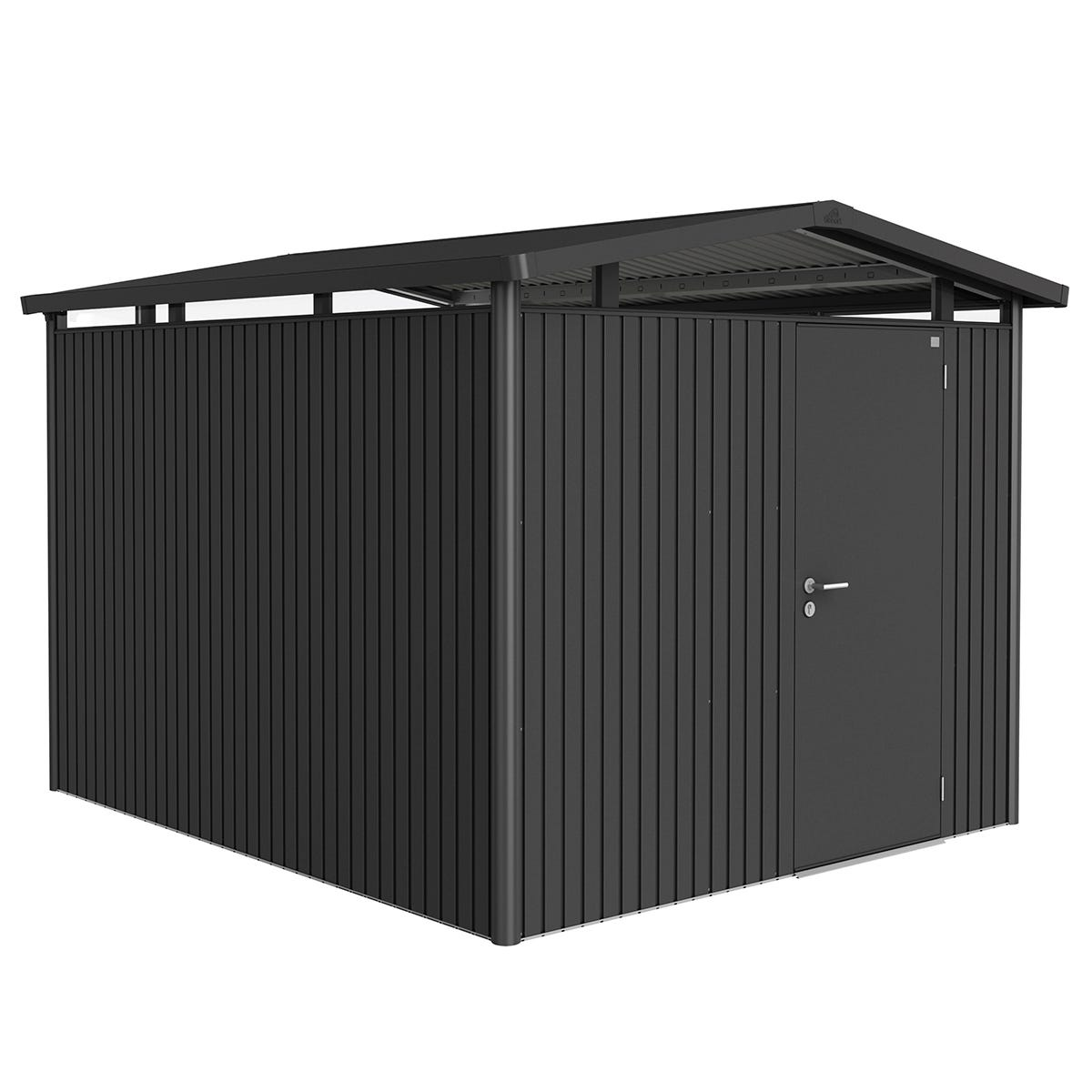 Biohort Panorama Metal Shed P5 Standard Door 9' x 10'' - Dark Grey