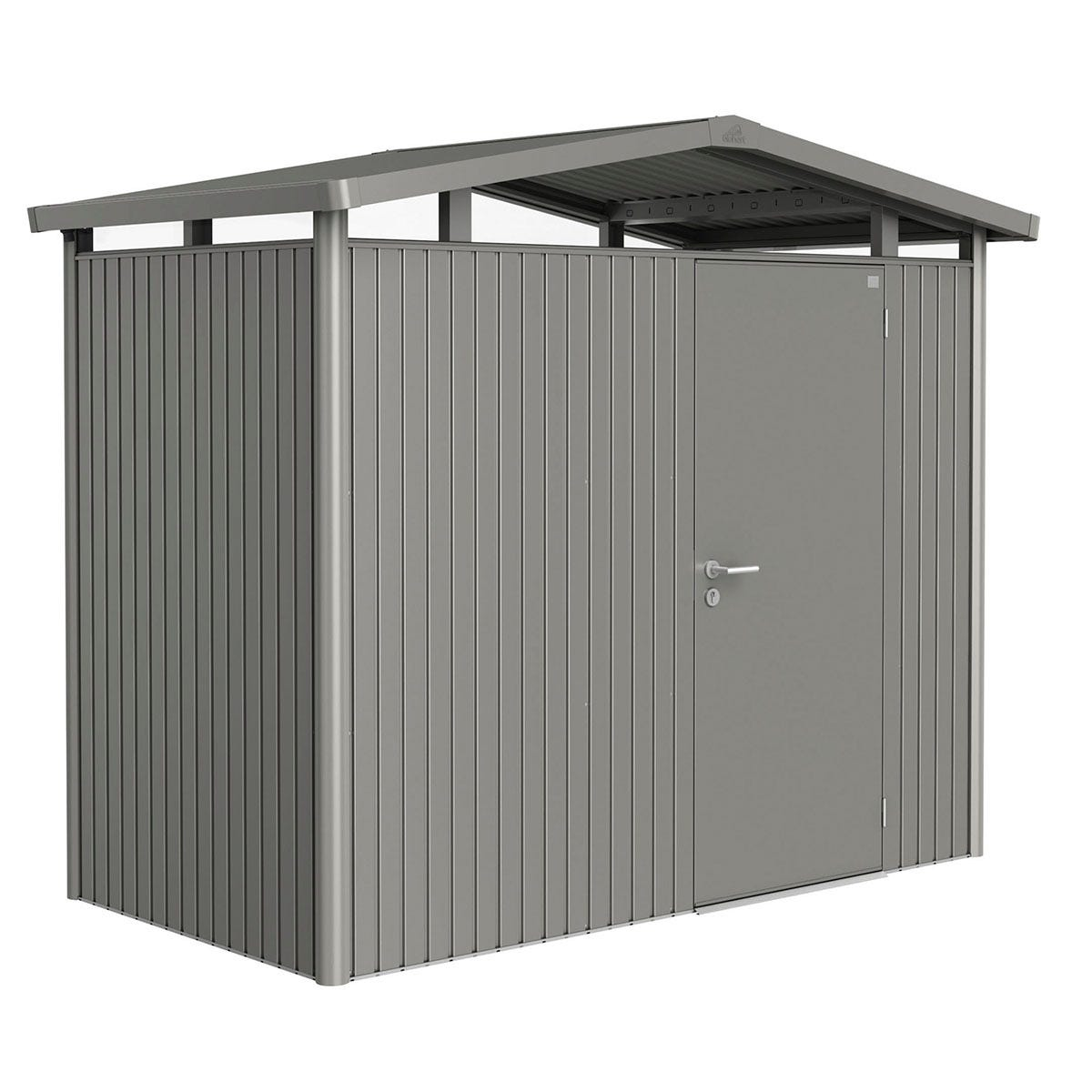 Biohort Panorama Metal Shed P1 Standard door 9' x 5' - Quartz Grey