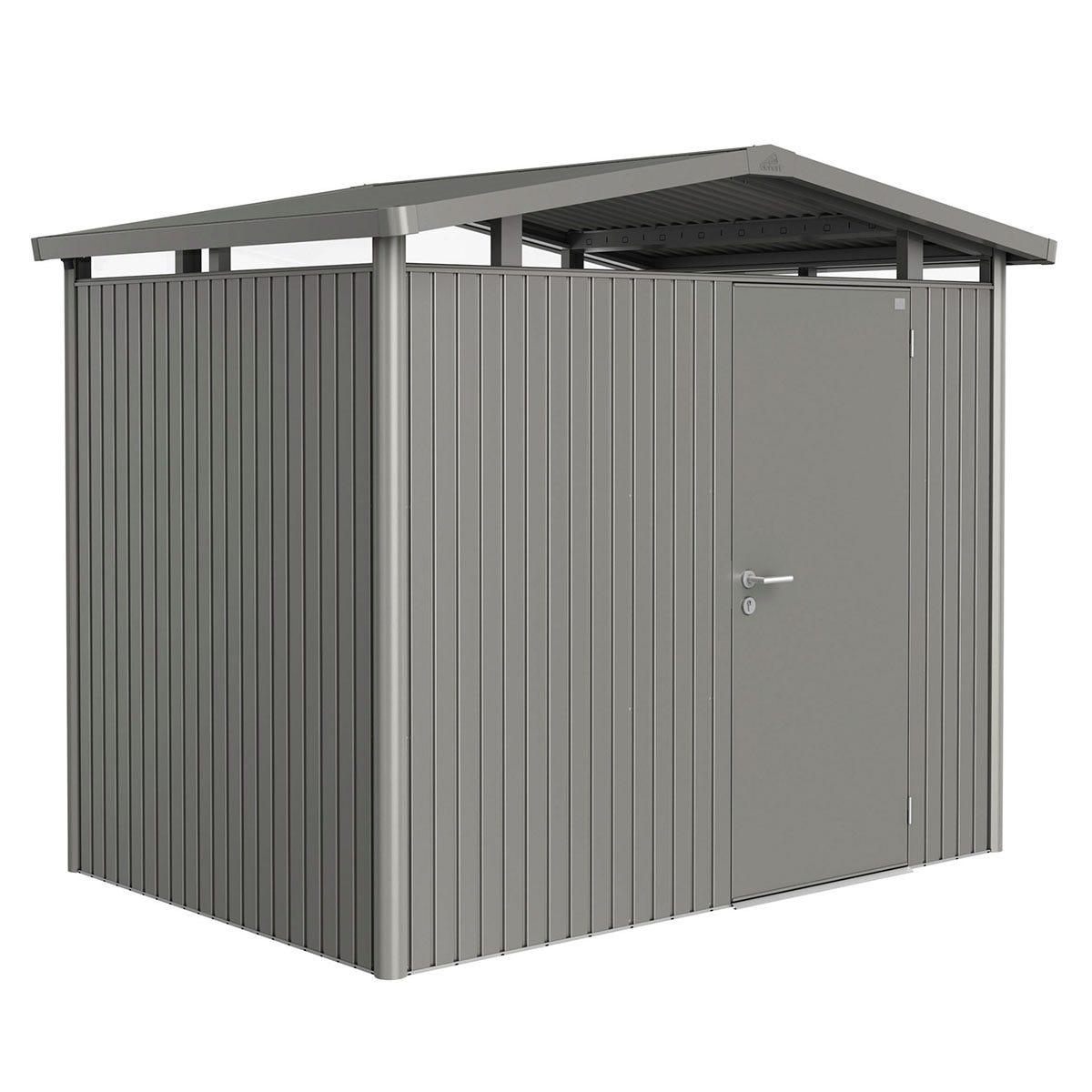 Biohort Panorama Metal Shed P2 Standard Door 9' x 6' 5'' - Quartz Grey
