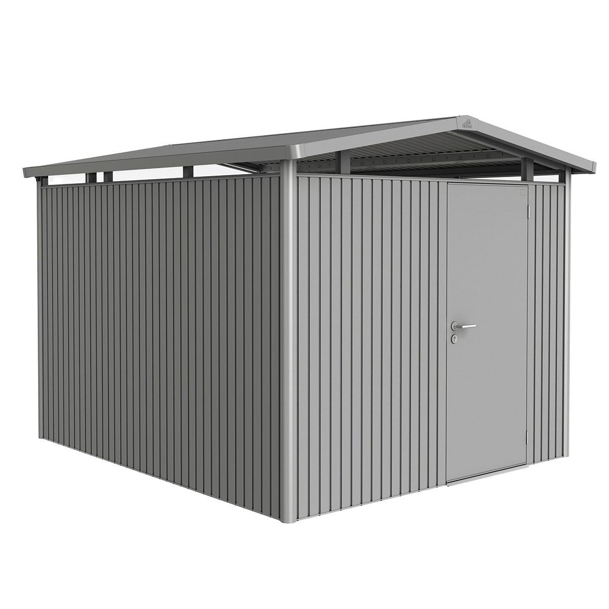 Biohort Panorama Metal Shed P5 Standard door 9' x 10' - Quartz Grey
