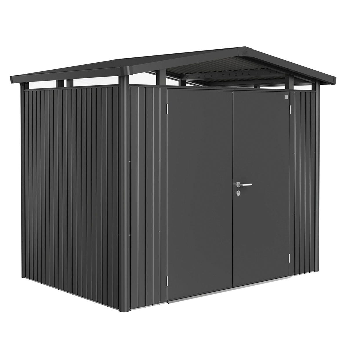 Biohort Panorama Metal Shed P2 Double Door 9' x 6' 5'' - Dark Grey