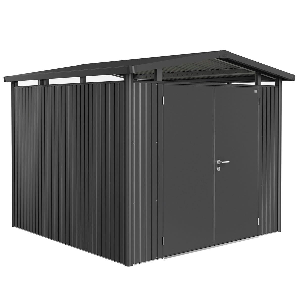 Biohort Panorama Metal Shed P4 Double Door 9' x 9' 1'' - Dark Grey