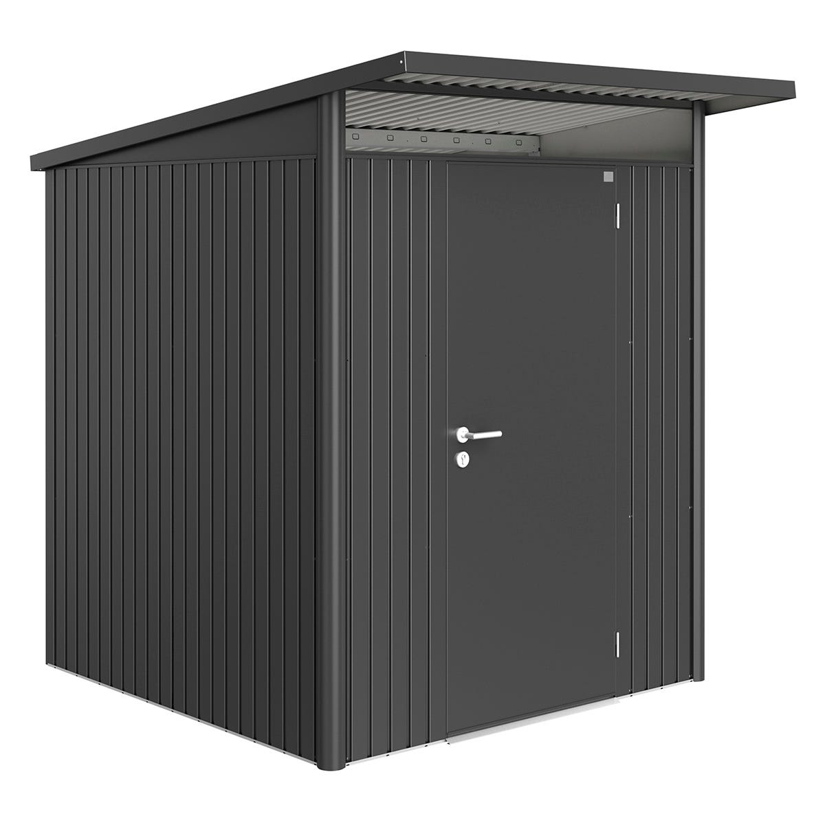 Biohort AvantGarde Metal Shed A1 Standard door 5' 9'' x 7' 2'' - Dark Grey