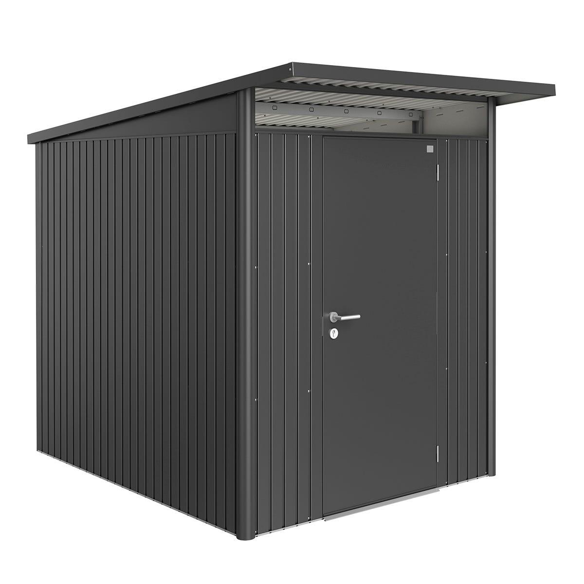 Biohort AvantGarde Metal Shed A2 Standard door 5' 9' x 8' 5'' - Dark Grey
