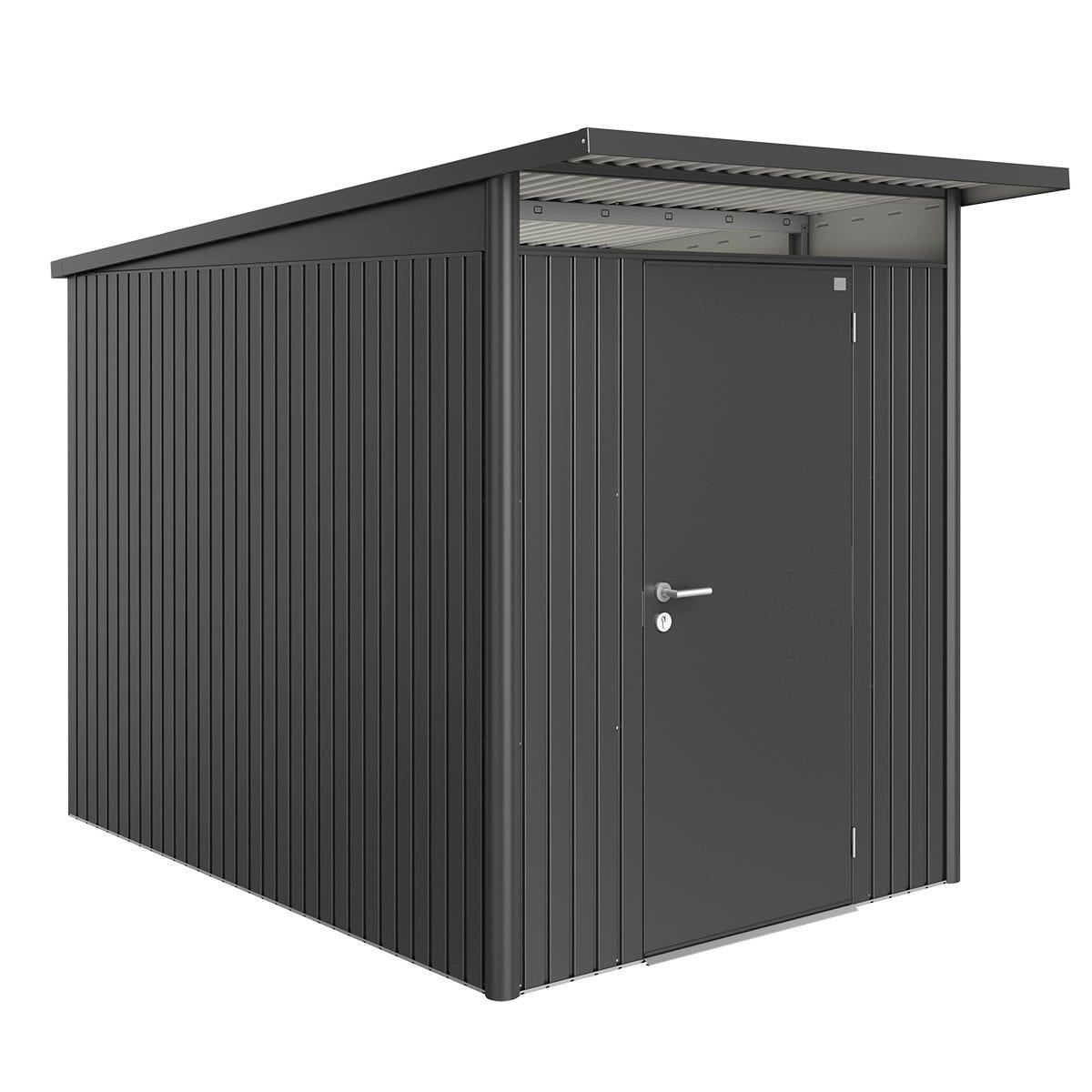 Biohort AvantGarde Metal Shed A3 Standard door 5' 9'' x 9' 8'' - Dark Grey