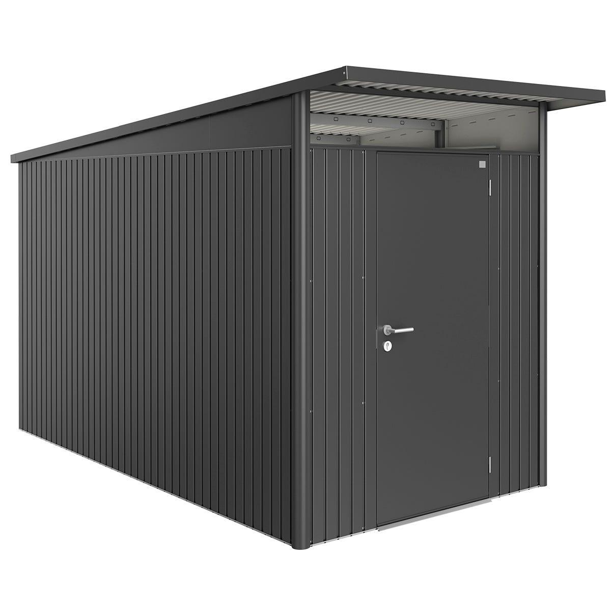 Biohort AvantGarde Metal Shed A4 Standard door 5' 9' x 12' 4'' - Dark Grey
