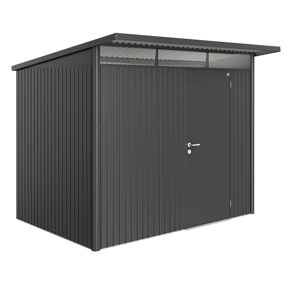 Biohort AvantGarde Metal Shed A5 Standard door 8' 5'' x 7' 2'' - Dark Grey