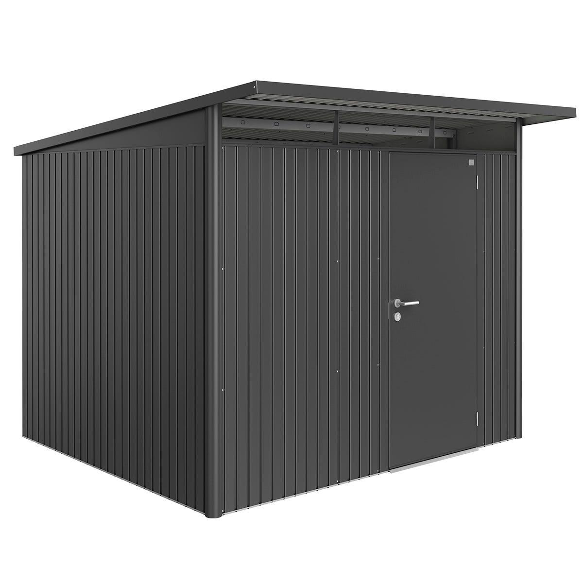 Biohort AvantGarde Metal Shed A6 Standard door 8' 5'' x 8' 5'' - Dark Grey