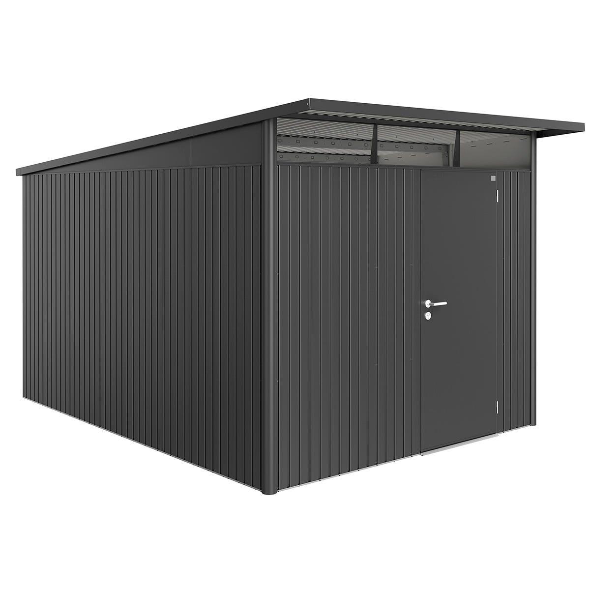 Biohort AvantGarde Metal Shed A8 Standard door 8' 5'' x 12' 4'' - Dark Grey
