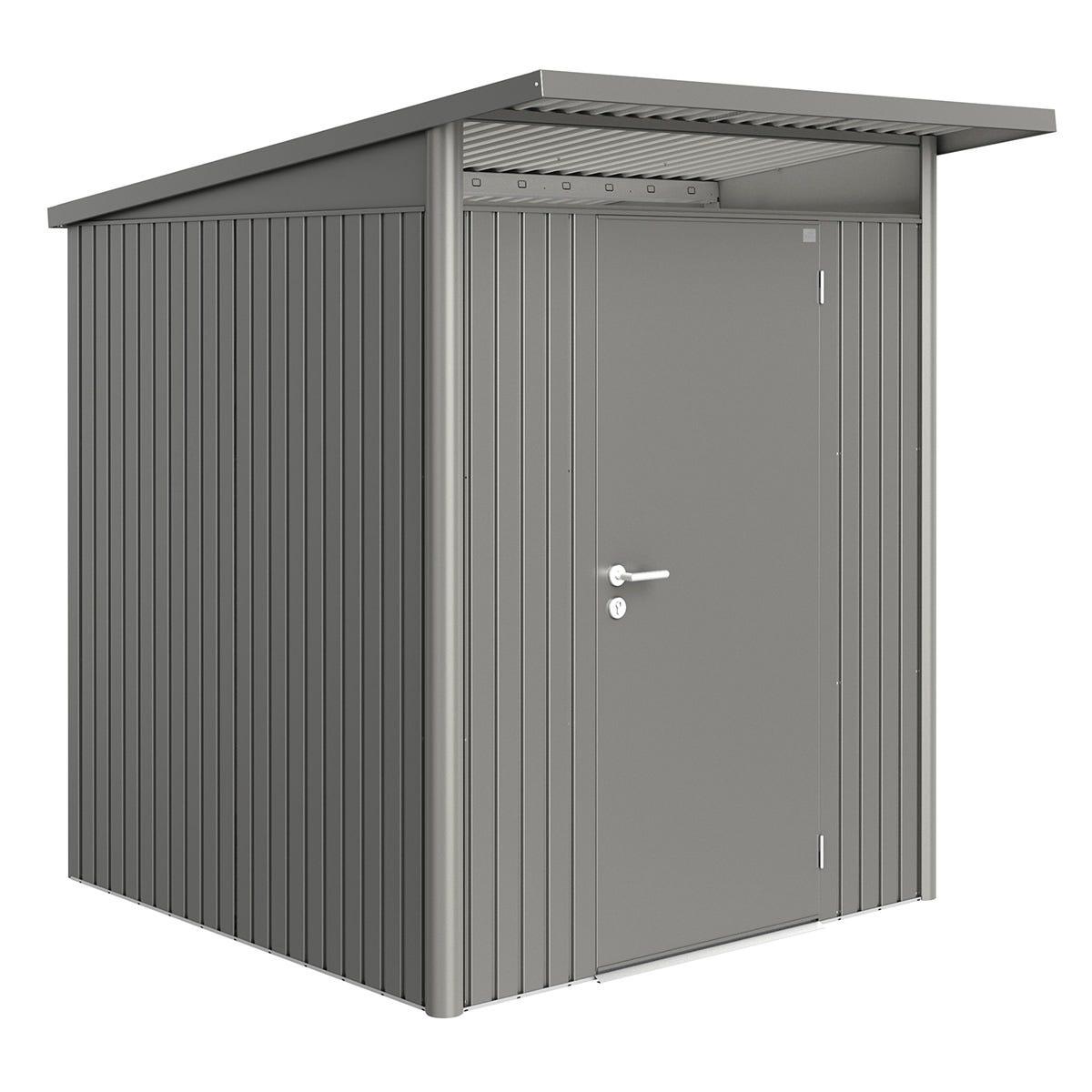 Biohort AvantGarde Metal Shed A1 Standard door 5' 9'' x 7' 2'' - Quartz Grey