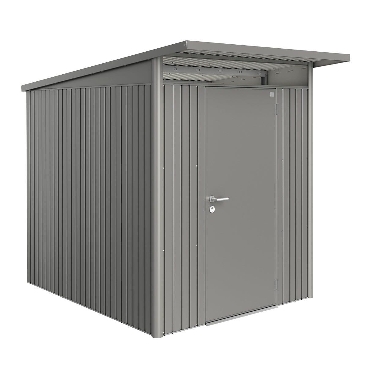 Biohort AvantGarde Metal Shed A2 Standard door 5' 9'' x 8' 5'' - Quartz Grey