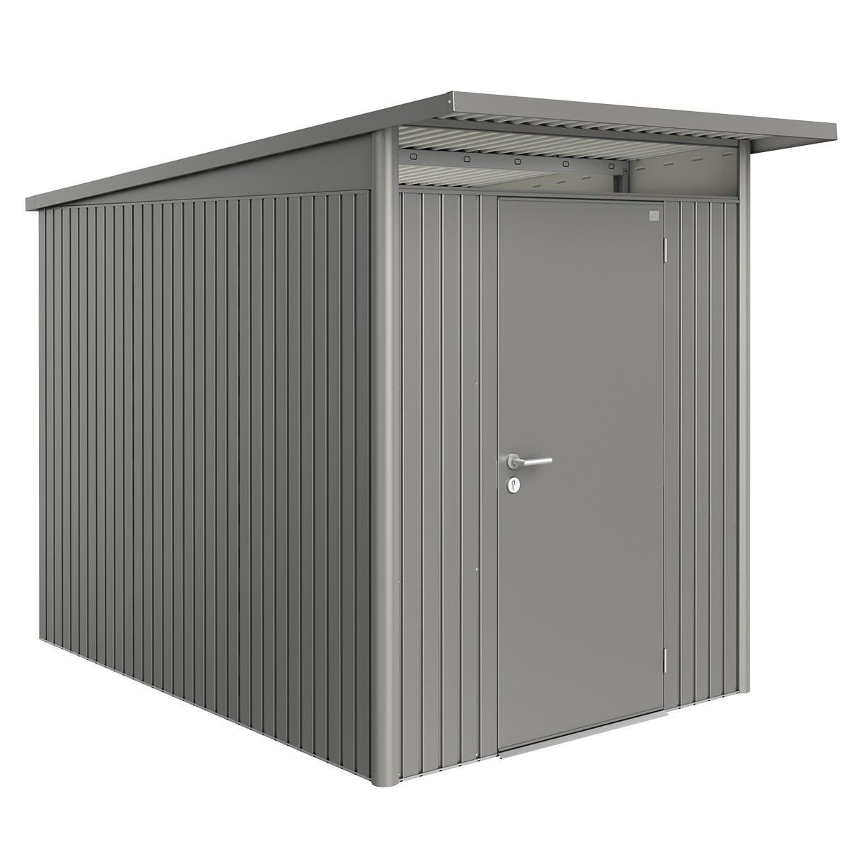 Biohort AvantGarde Metal Shed A3 Standard door 5' 9'' x 9' 8'' - Quartz Grey
