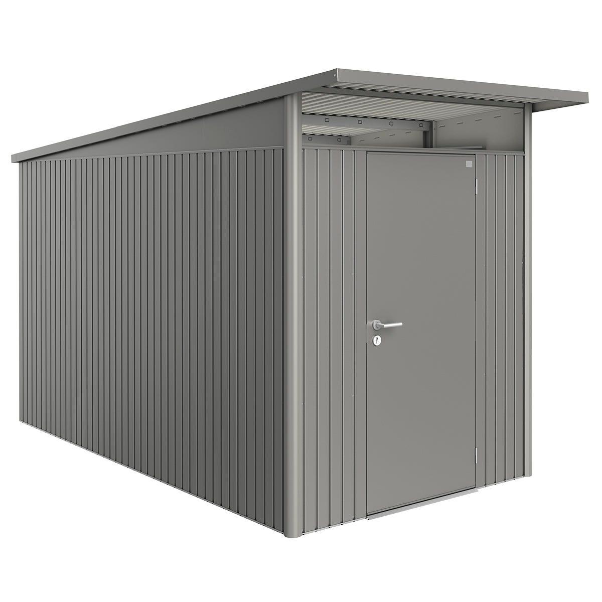 Biohort AvantGarde Metal Shed A4 Standard door 5' 9'' x 12' 4'' - Quartz Grey
