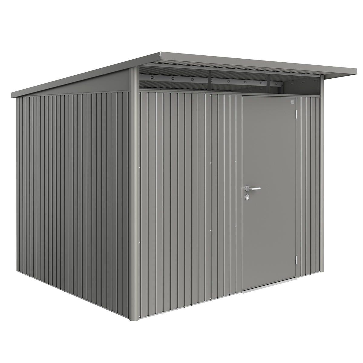 Biohort AvantGarde Metal Shed A6 Standard door 8' 5'' x 8' 5'' - Quartz Grey