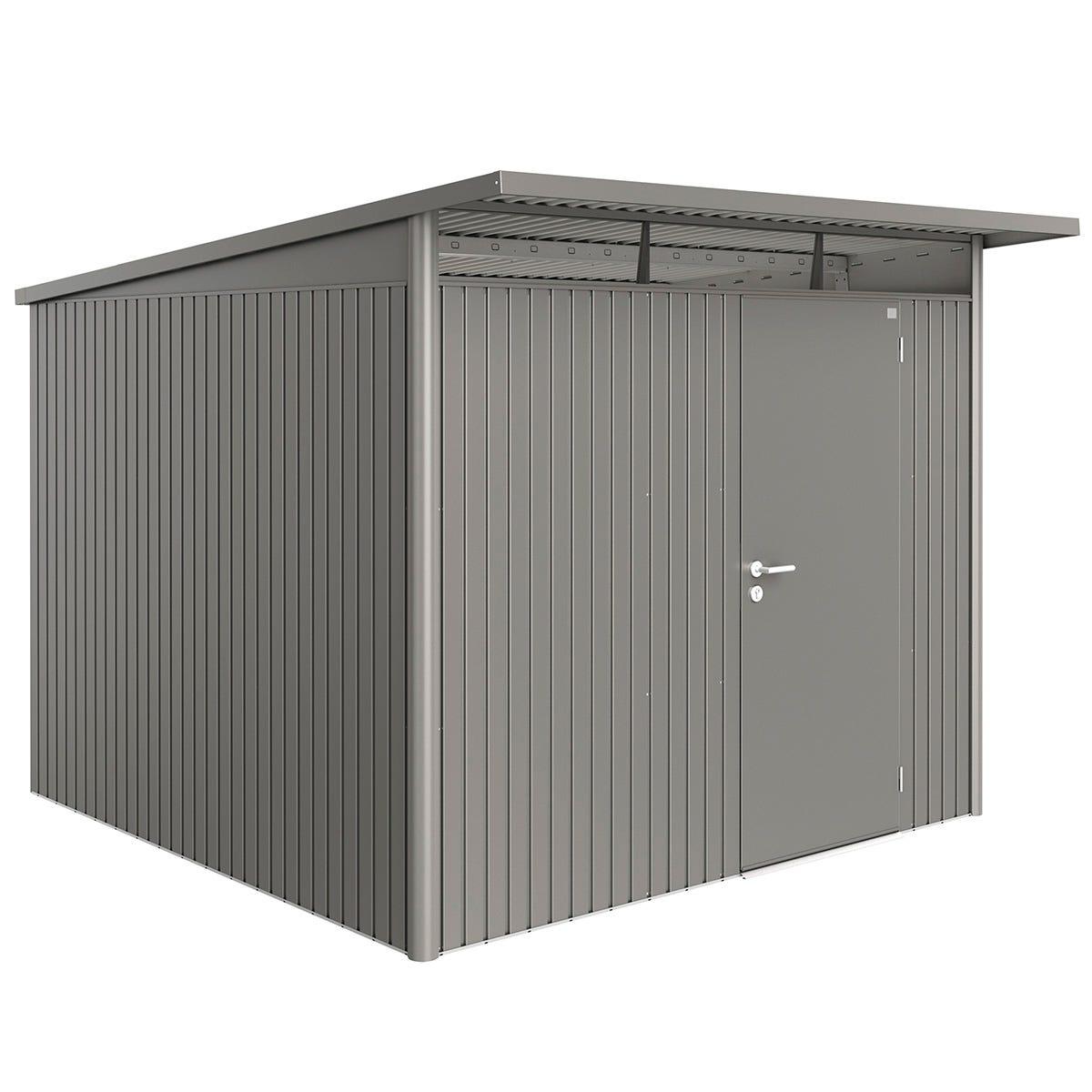 Biohort AvantGarde Metal Shed A7 Standard door 8' 5'' x 9' 8'' - Quartz Grey
