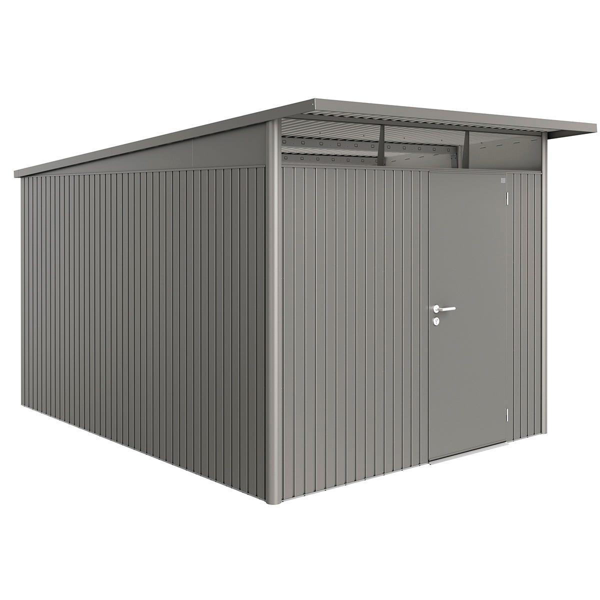 Biohort AvantGarde Metal Shed A8 Standard door 8' 5'' x 12' 4'' - Quartz Grey