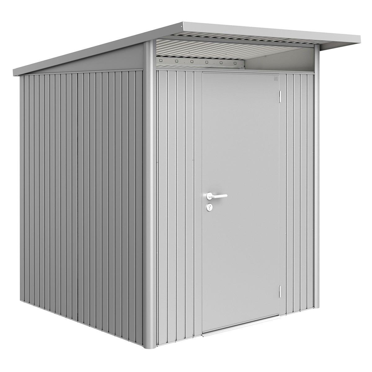 Biohort AvantGarde Metal Shed A1 Standard door 5' 9'' x 7' 2'' - Metallic Silver