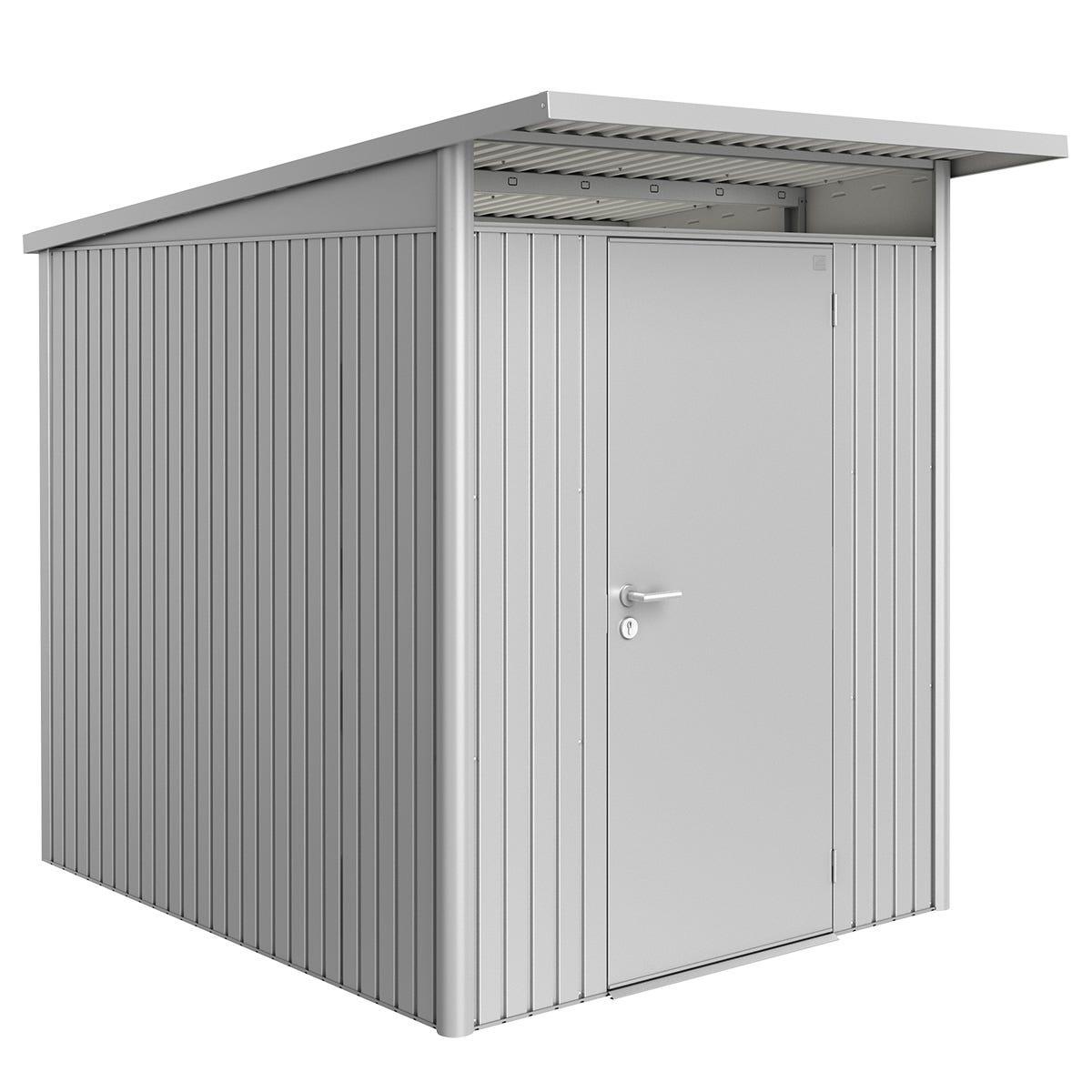 Biohort AvantGarde Metal Shed A2 Standard door 5' 9'' x 8' 5'' - Metallic Silver
