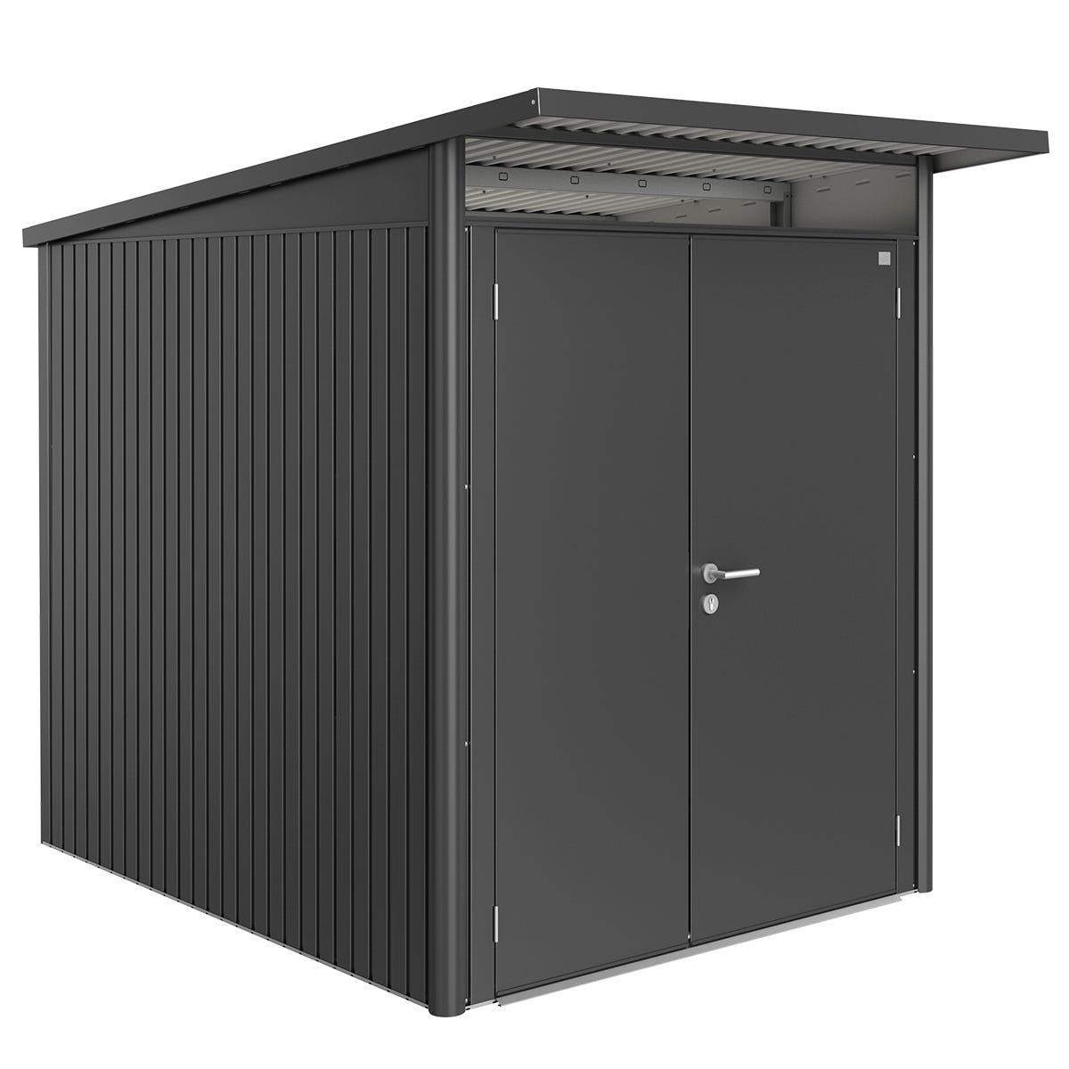 Biohort AvantGarde Metal Shed A2 Double door 5' 9'' x 8' 5'' - Dark Grey