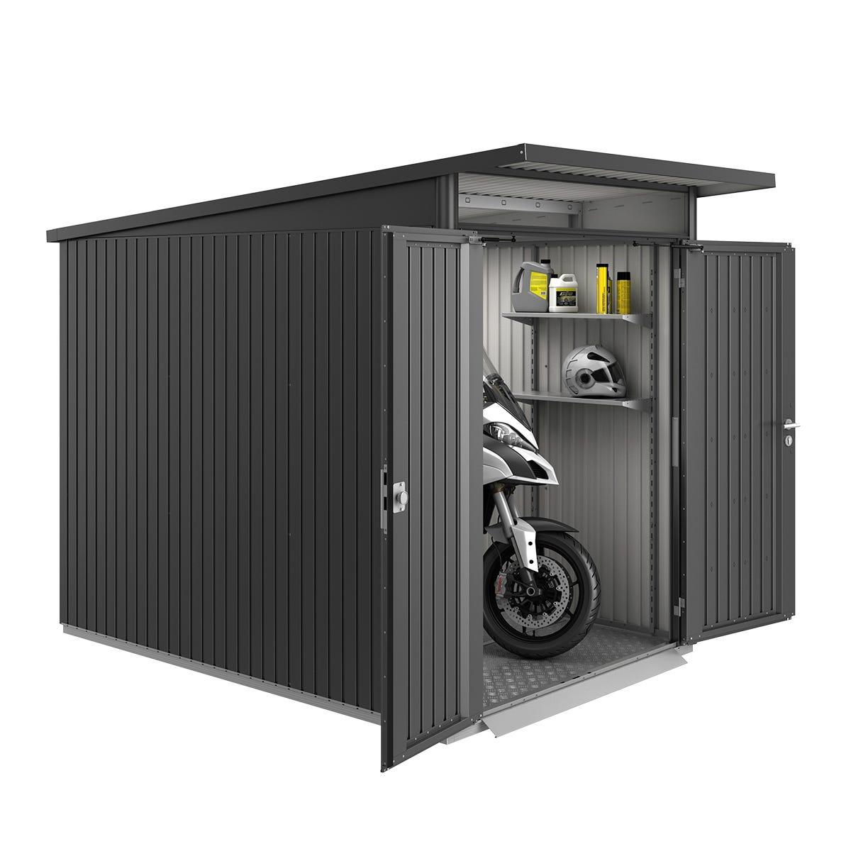 Biohort AvantGarde Metal Shed A3 Double door 5' 9'' x 9' 8'' - Dark Grey