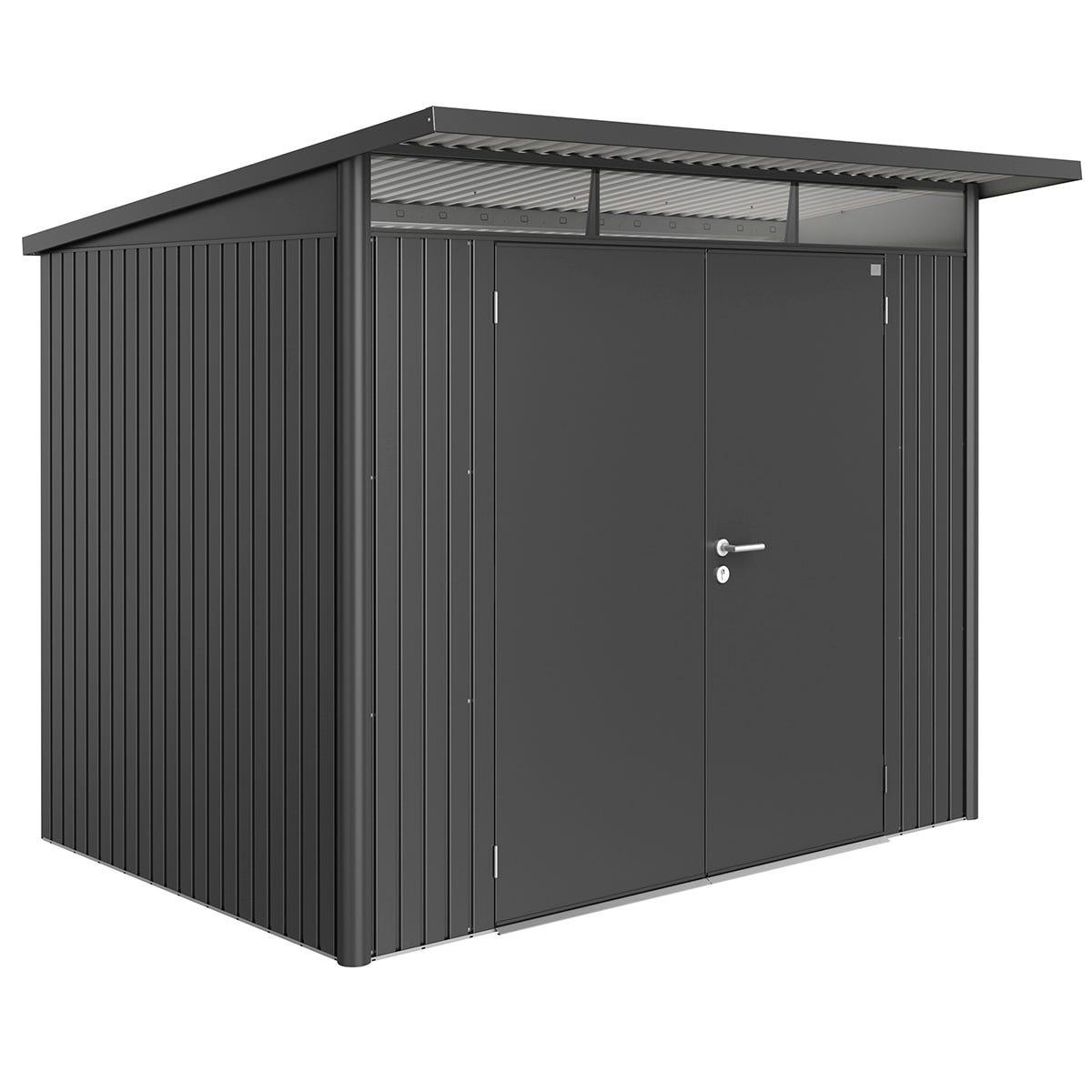 Biohort AvantGarde Metal Shed A5 Double door 8' 5'' x 7' 2'' - Dark Grey