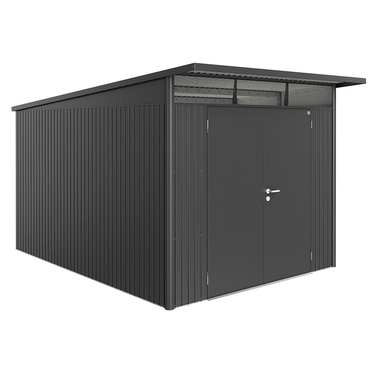 Biohort AvantGarde Metal Shed A8 Double door 8' 5'' x 12' 4'' - Dark Grey