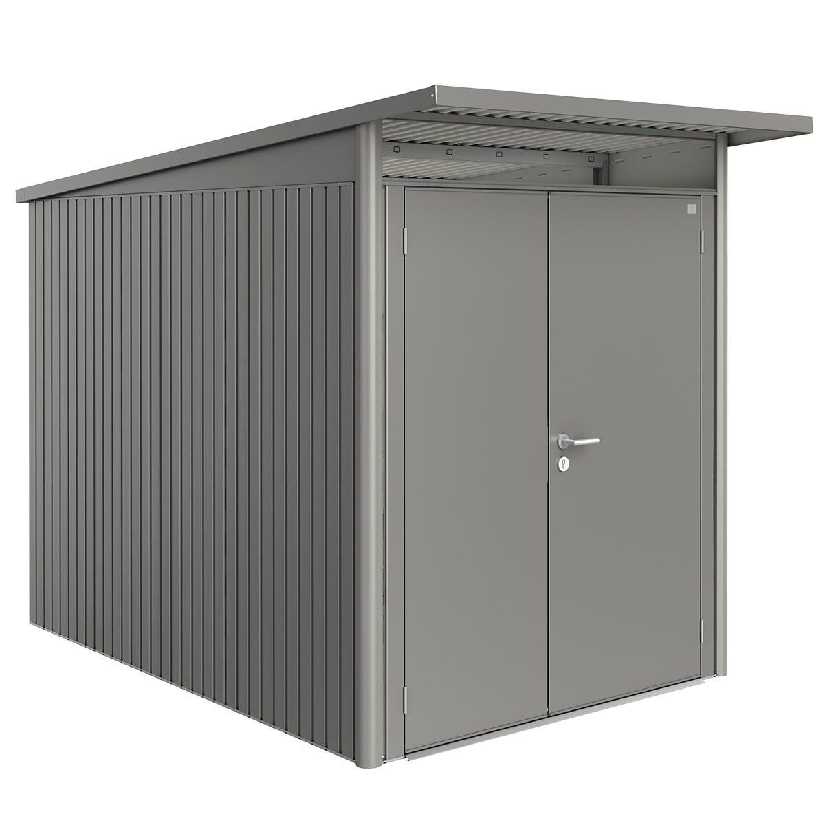 Biohort AvantGarde Metal Shed A3 Double door 5' 9'' x 9' 8'' - Quartz Grey