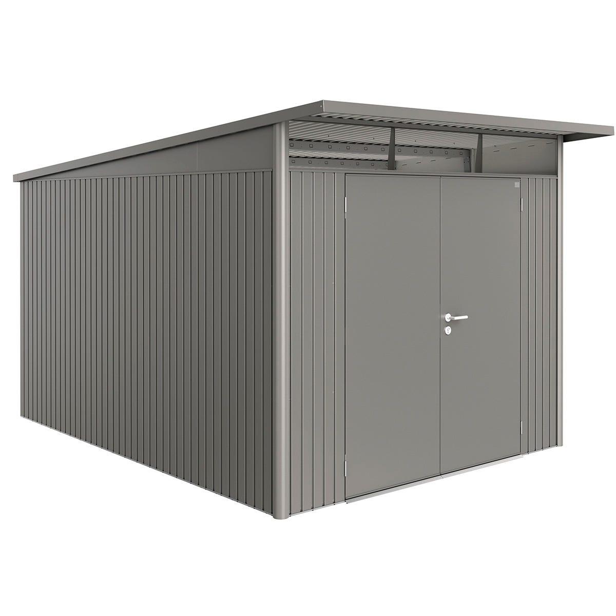 Biohort AvantGarde Metal Shed A8 Double door 8' 5'' x 12' 4'' - Quartz Grey