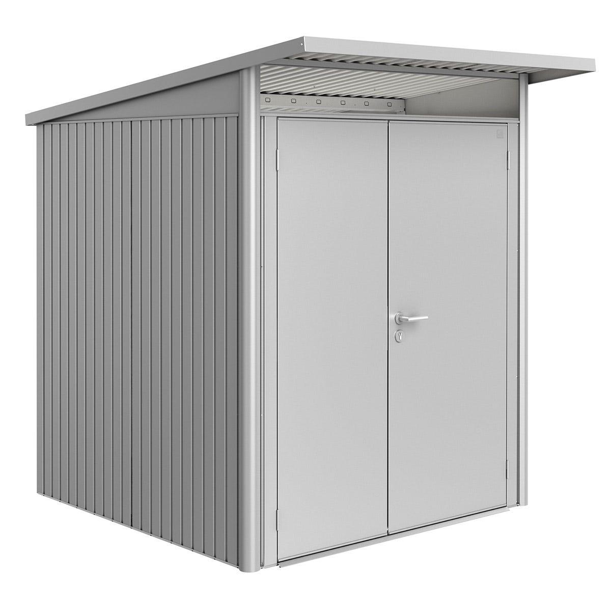 Biohort AvantGarde Metal Shed A1 Double door 5' 9'' x 7' 2'' - Metallic Silver