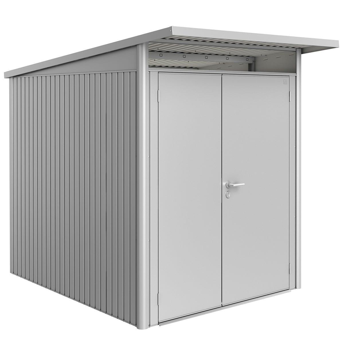 Biohort AvantGarde Metal Shed A2 Double door 5' 9'' x 8' 5'' - Metallic Silver