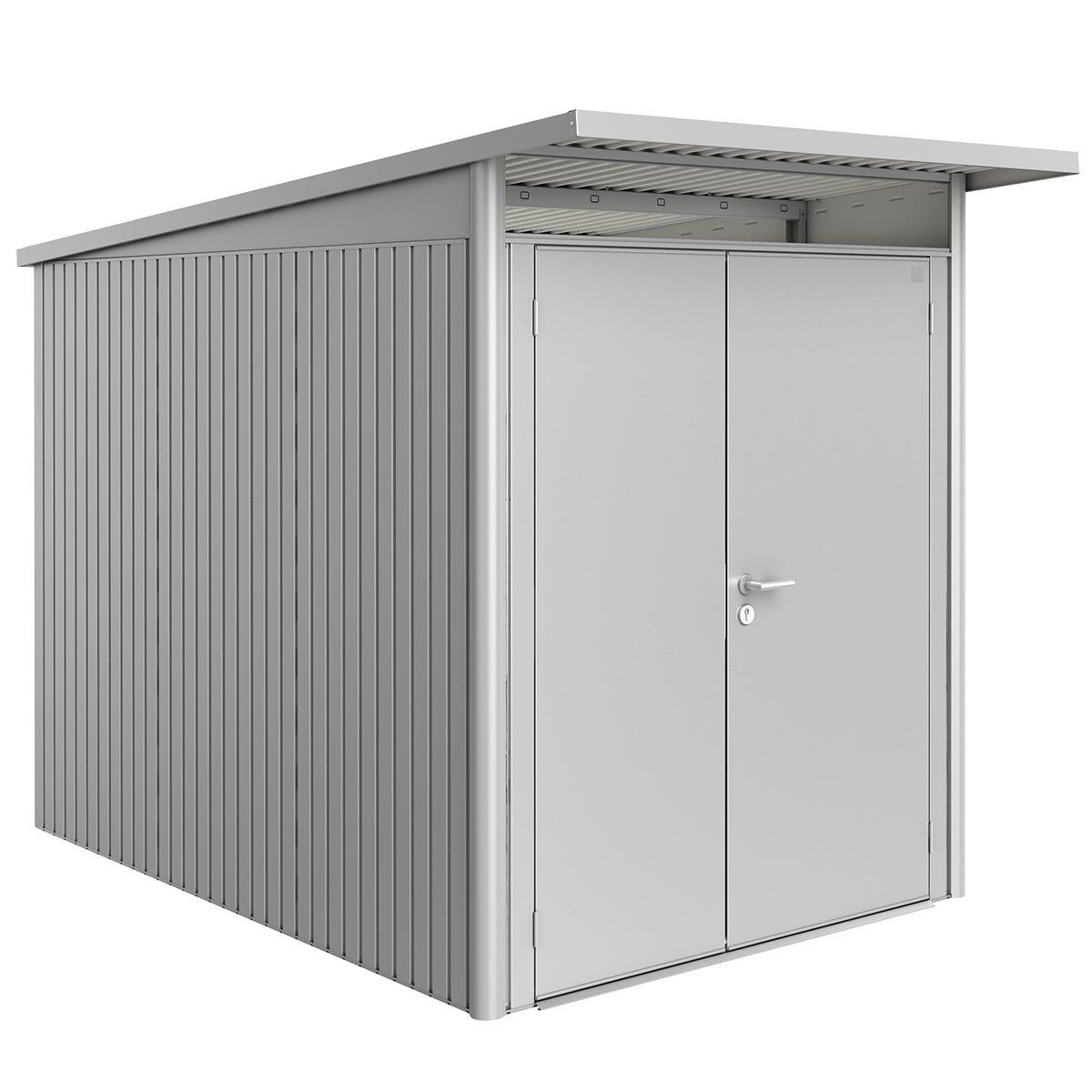 Biohort AvantGarde Metal Shed A3 Double door 5' 9'' x 9' 8'' - Metallic Silver