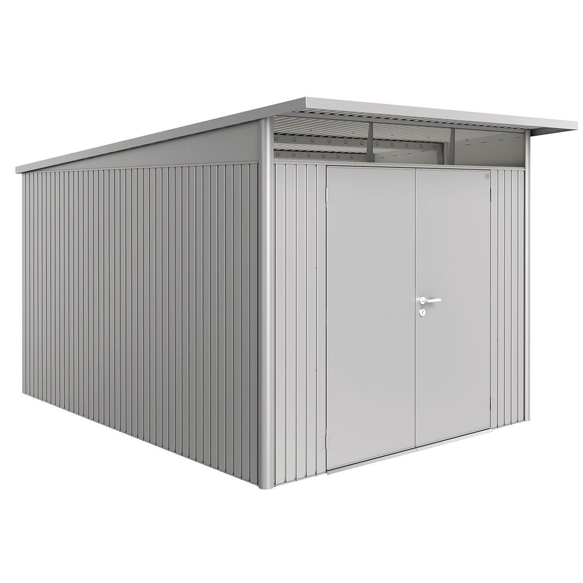 Biohort AvantGarde Metal Shed A8 Double door 8' 5'' x 12' 4'' - Metallic Silver