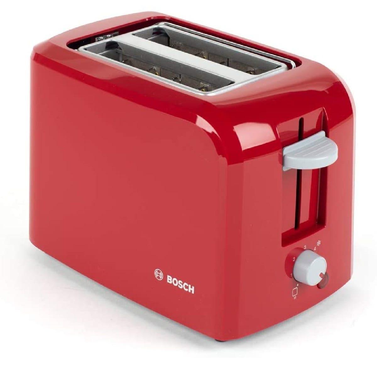 Bosch TAT3A014GB Village 2-Slice 980W Toaster - Red