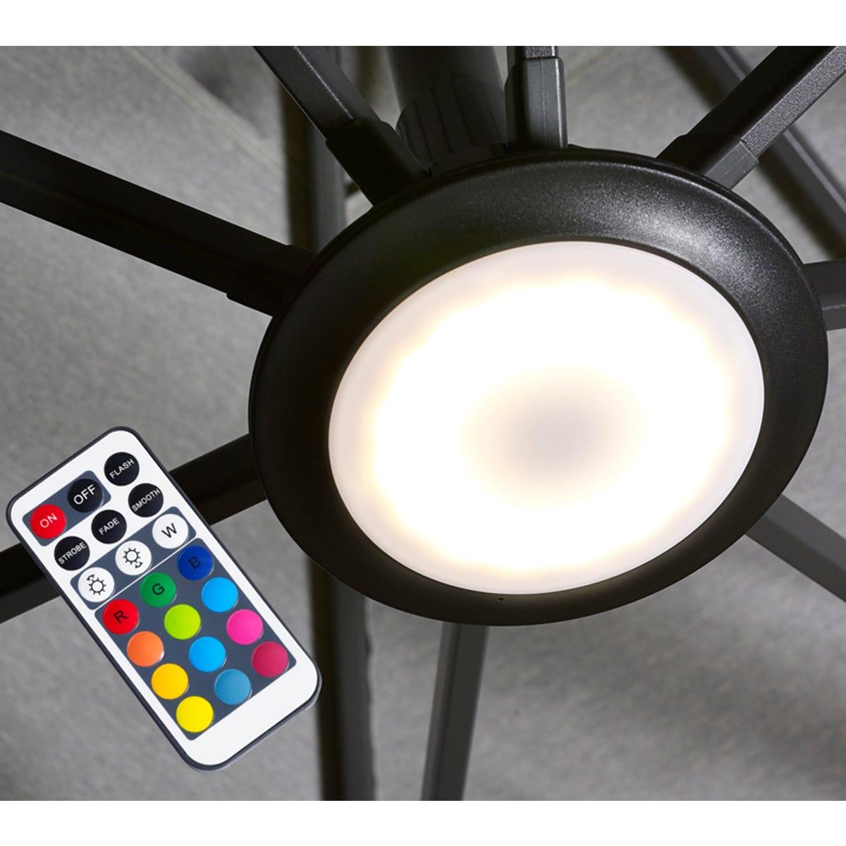 Pacific Lifestyle Multi Coloured LED Parasol Light