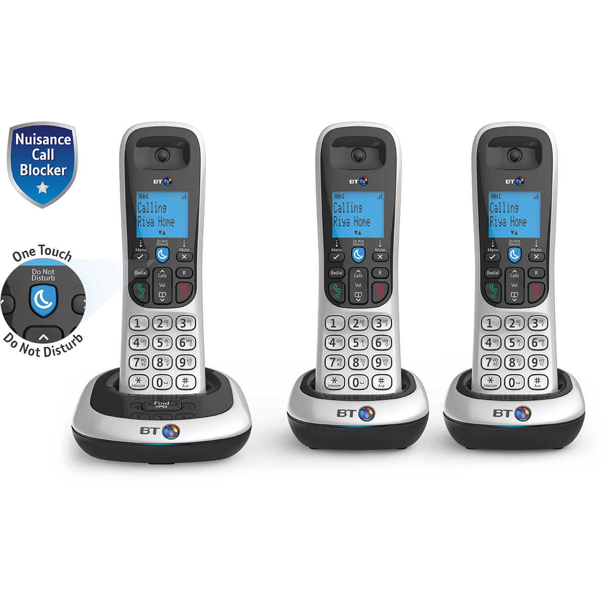 Bt 2200 Cordless DECT Phone with Nuisanace Call Blocker - Trio