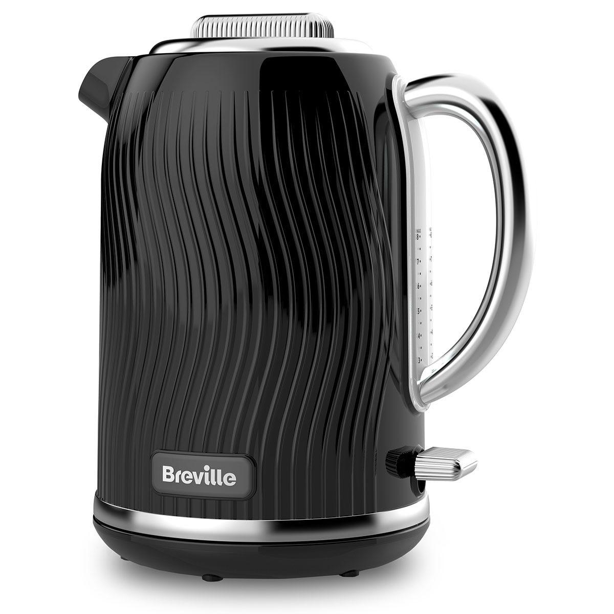 Breville VKT090 Flow Collection 3KW Fast Boil 1.7L Jug Kettle - Black