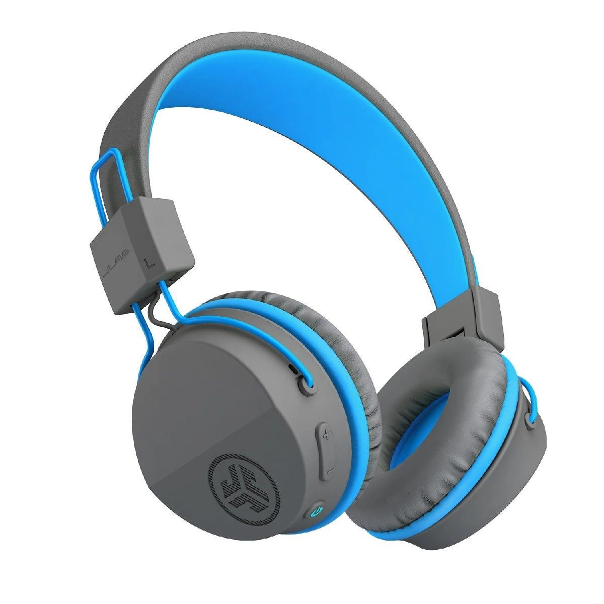 JLab JBuddies Studio Wireless Over Ear Kids Foldable Headphones - Grey/Blue